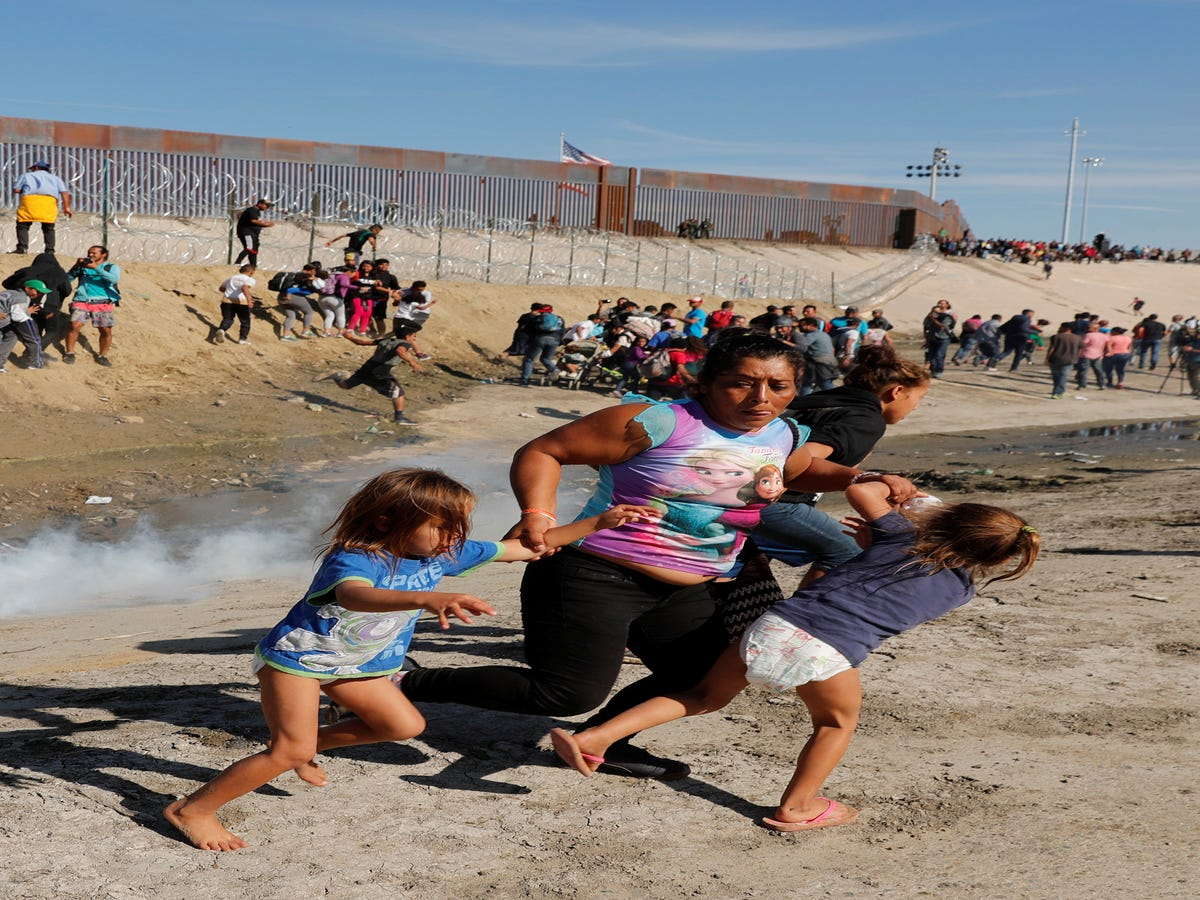 Border Patrol Used Tear Gas On Migrants — Including Toddlers — Trying To Enter U.S.