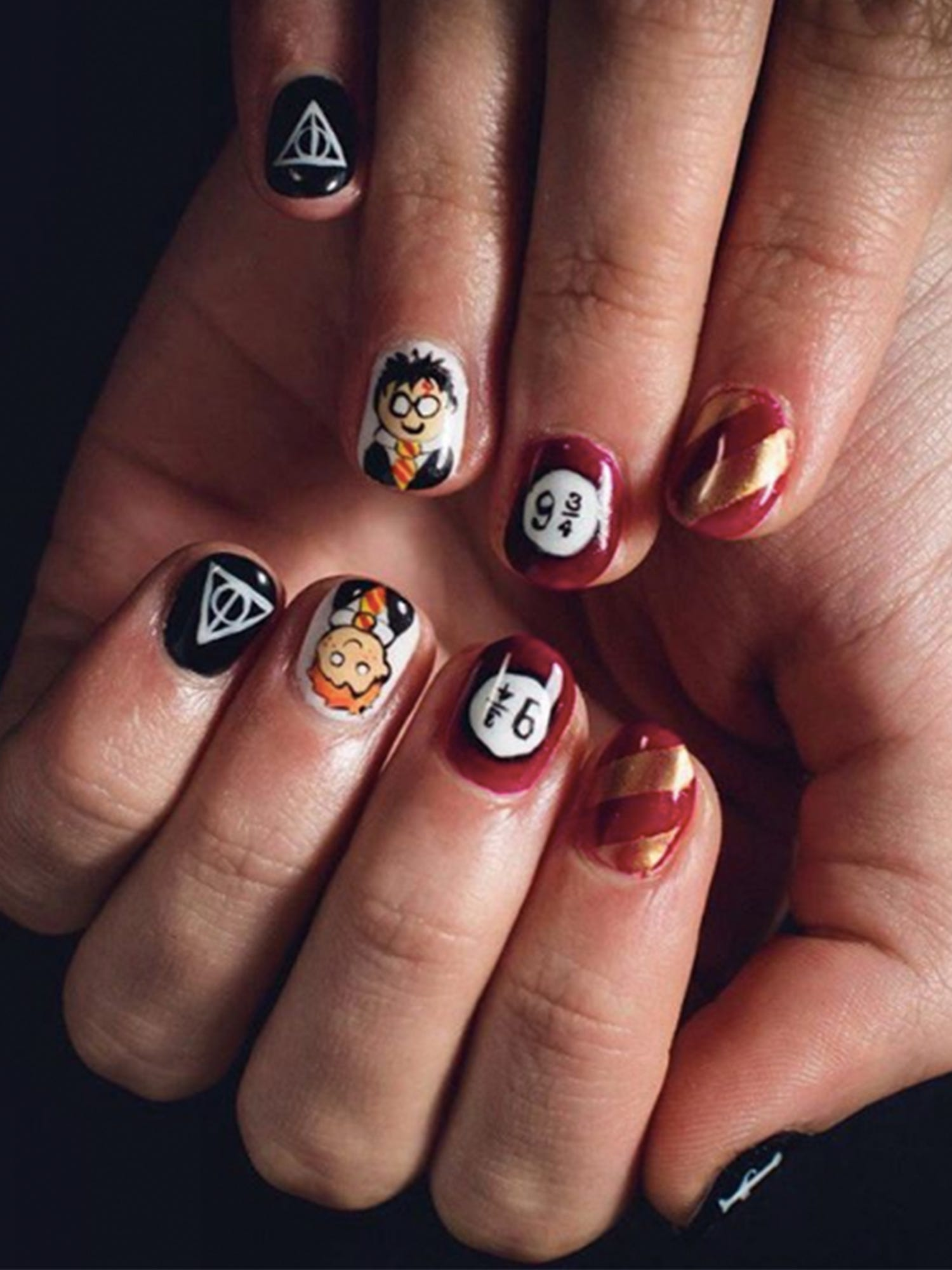 Harry Potter Marvel Nails - Best Nail Designs 2016