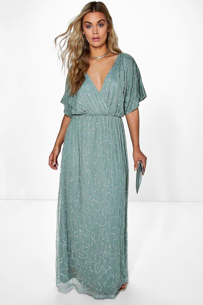 Plus Size Prom Dress with Sleeves