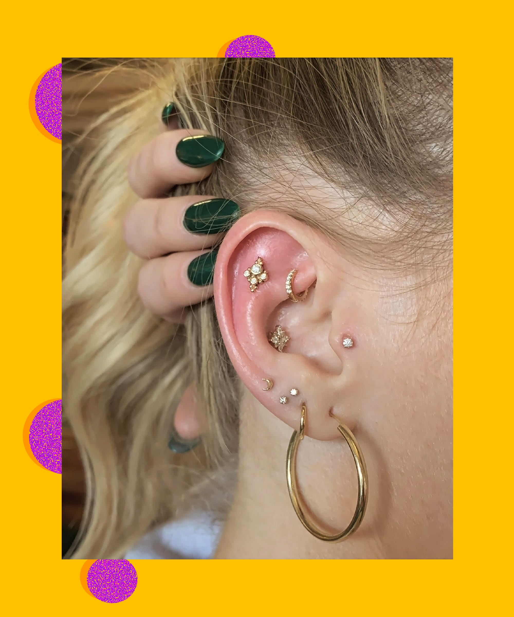 New Ear Piercing Trend In La For Multiple Earrings 2018