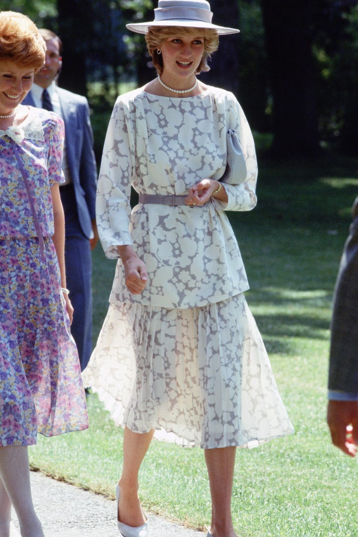 Princess Diana Fashion Trend Sloane Ranger Look