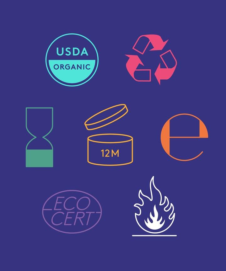 Beauty Product Labels Symbols