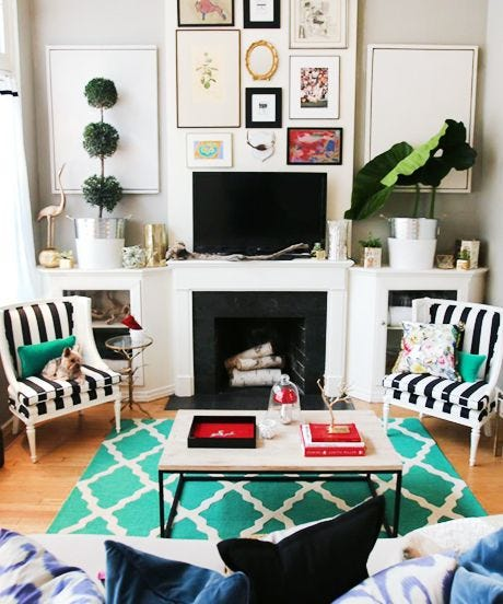 Its easy to think a small space can limit your decor possibilities a painting can only take you as far as the canvas edge right not