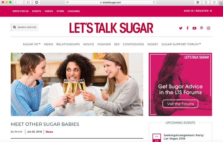sugar baby dating website