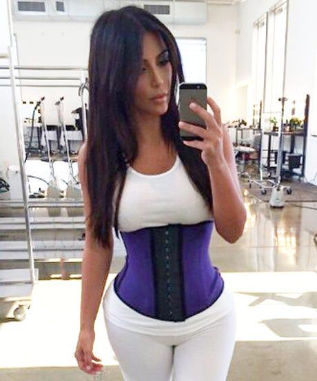 b42dc47552 Waist Training Exercises Kim Kardashian Corset