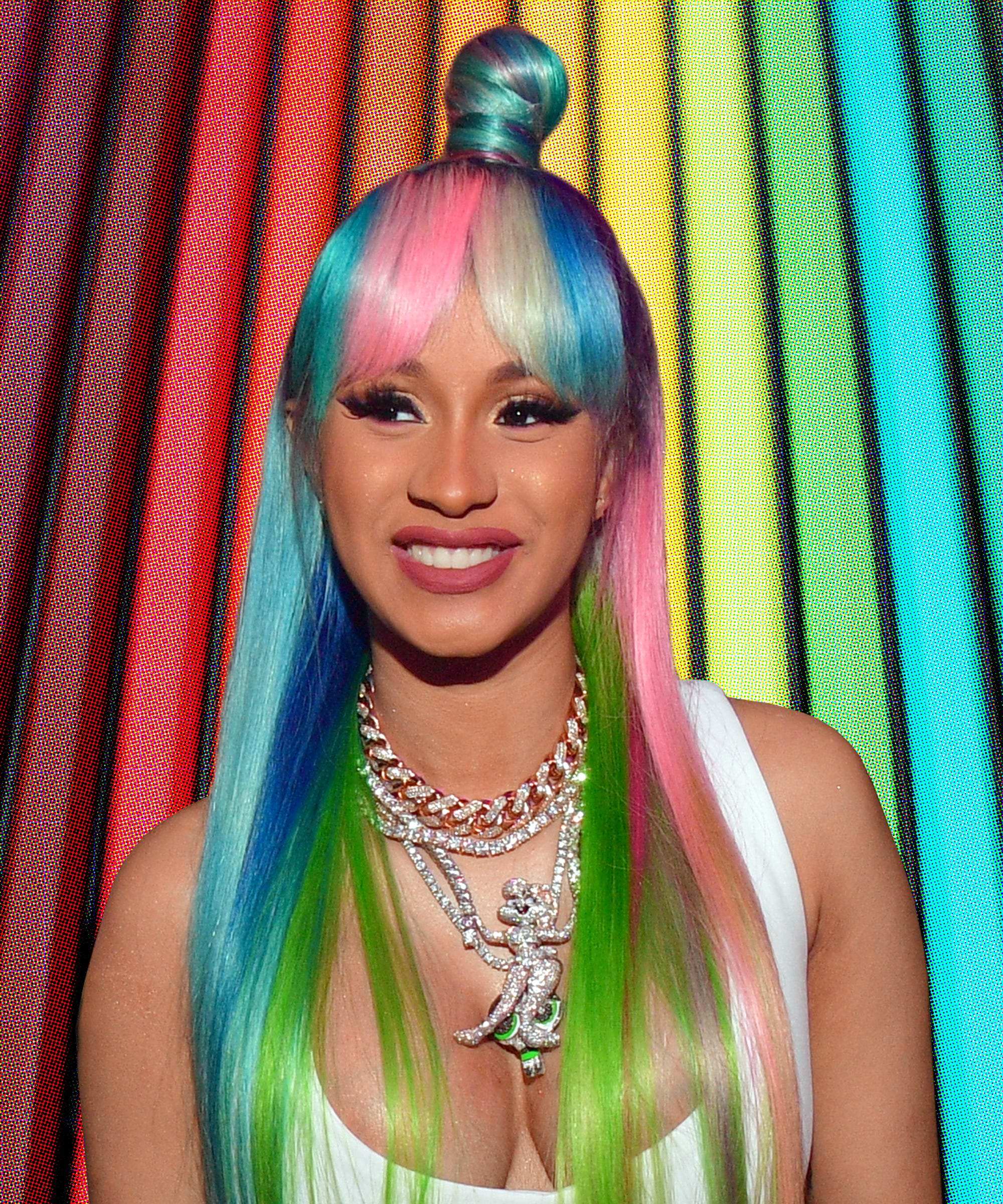 Rainbow Hair Color On Trend For Fall 2018 Nicki Minaj