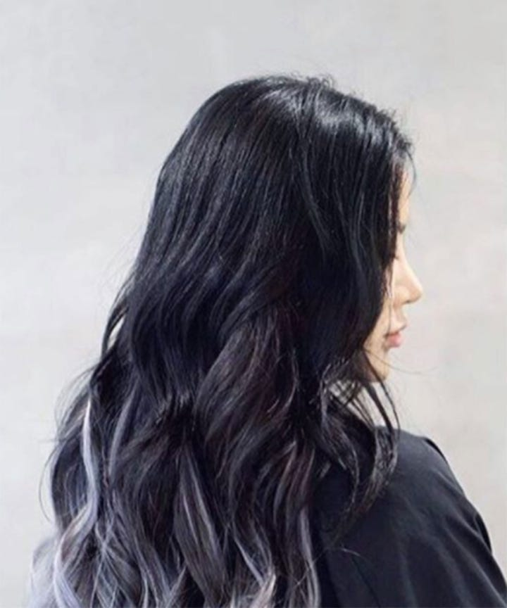 Blue Hair Dye Pastel Ombre Silver Color Inspiration