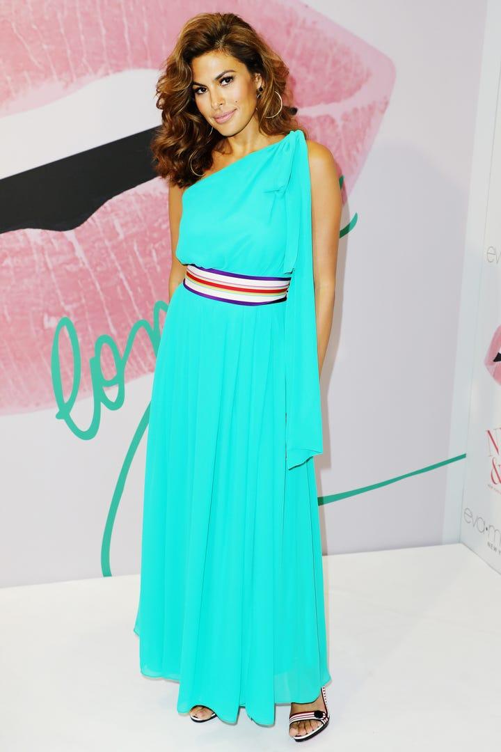 Eva Mendes New York Company Spring 2017 Maxi Dress