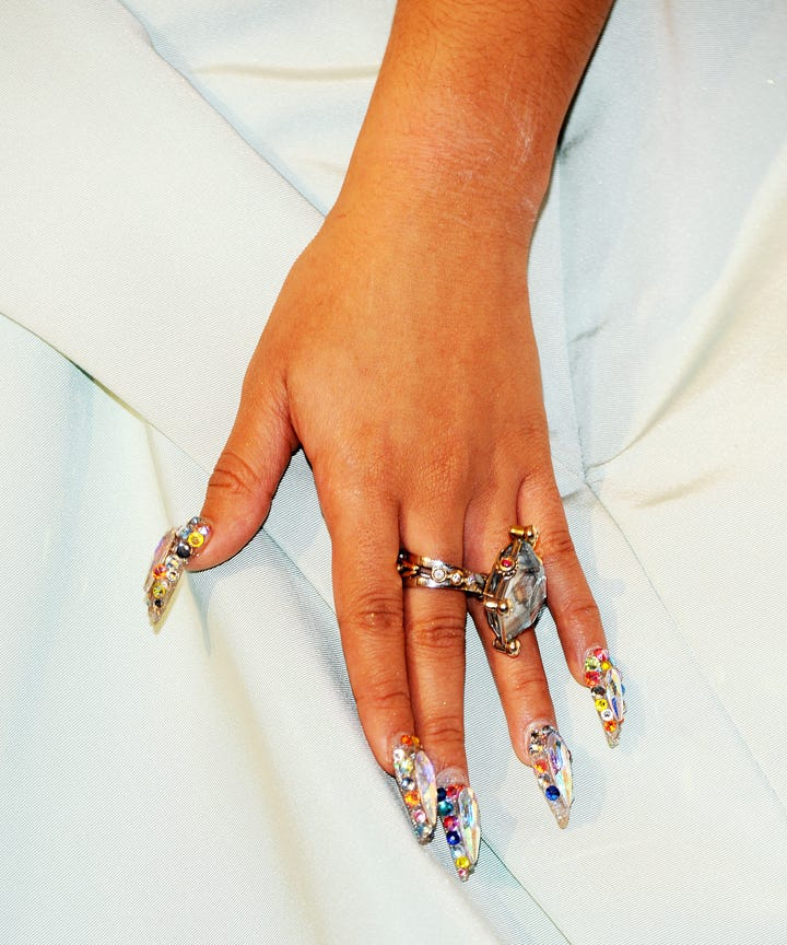Cardi B Nail Art Trends Crystal Manicure Inspiration