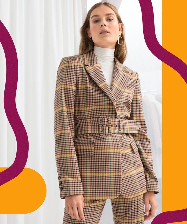 Plaid Blazers For Women Workwear Fall 2018
