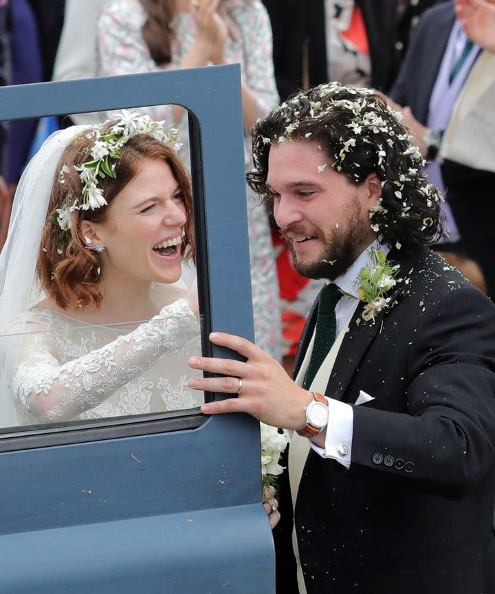 Hochzeitsfotos Von Kit Harington Rose Leslie Aus Got