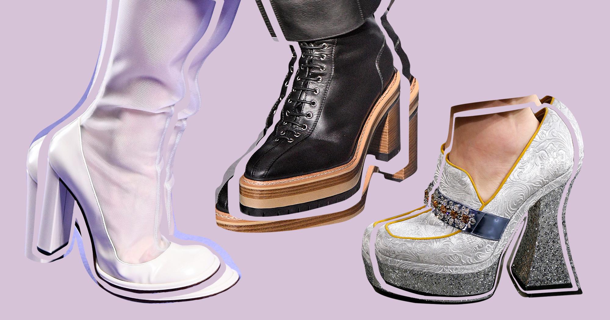1e1537be552 Fall 2017 Heels Shoes Boots Trends Fluevog Kitten Heel