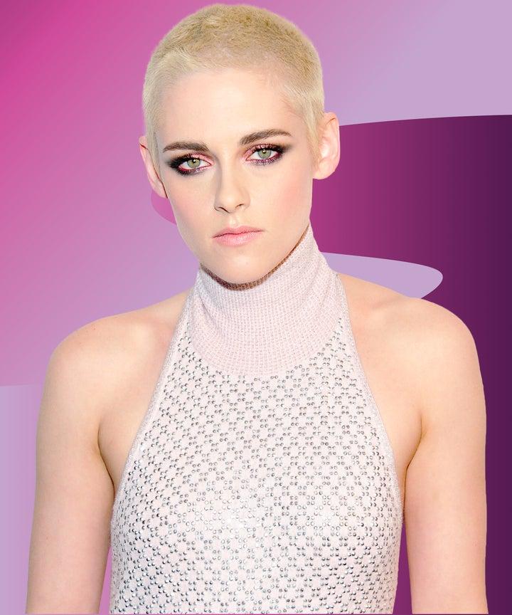 Kristen Stewart Adjusts To Her Shaved Head Pushes Hair