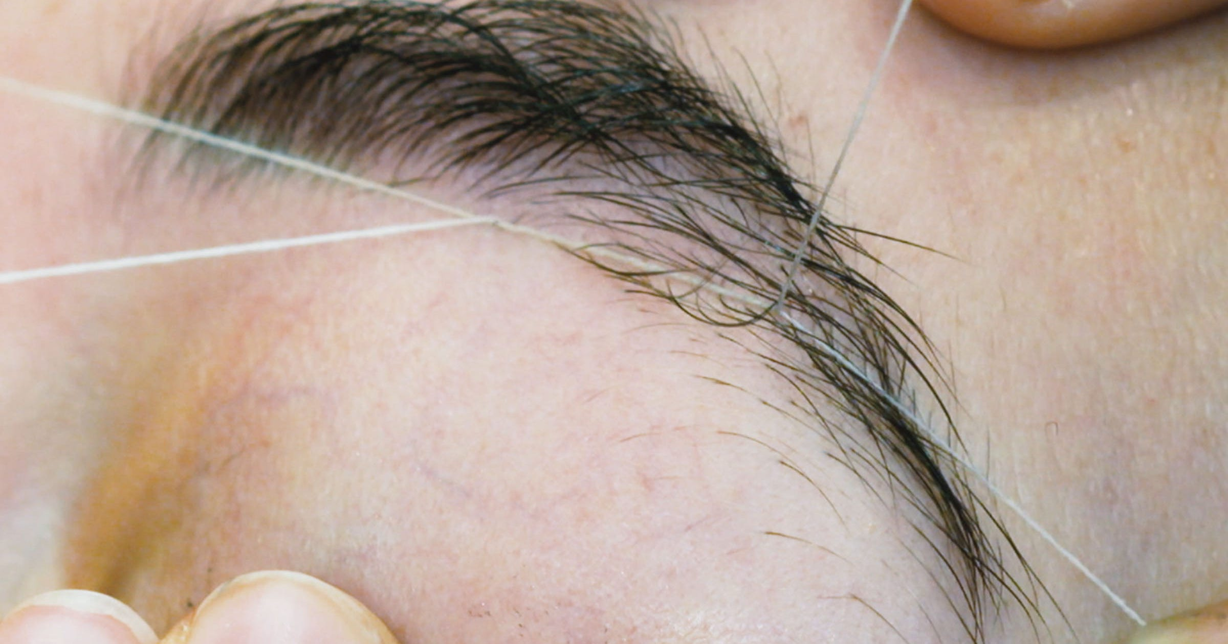 Eyebrow Threading Hair Removal Slow Motion Video