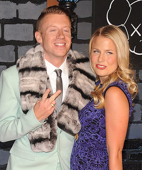 macklemore tricia davis pregnant baby video