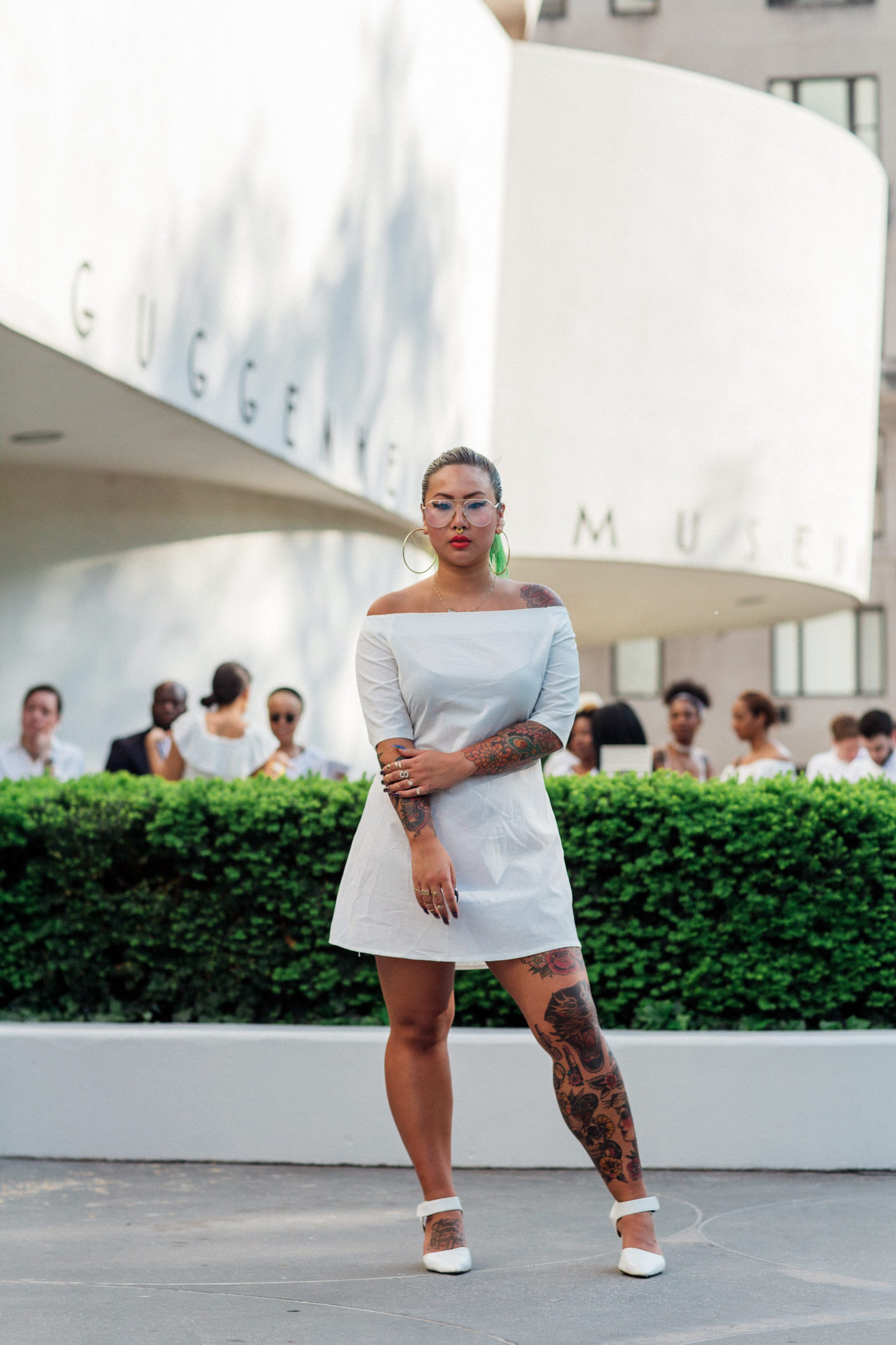 cd09d2b8812 Solange Knowles Concert Street Style All White Outfits