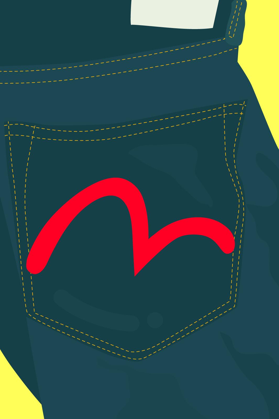 Jeans Denim Back Pocket Embroidery