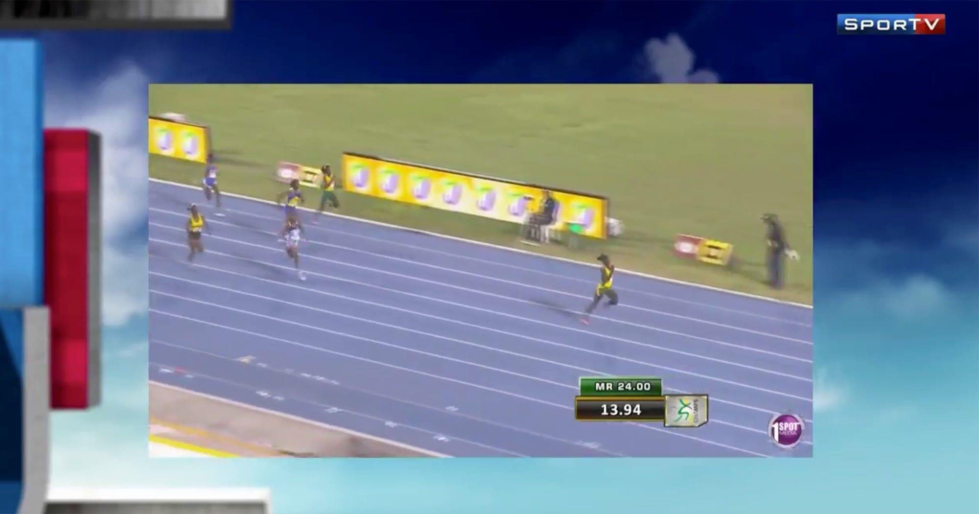 Pre-Teen 12 Year Old Girl Record Breaking Sprint Runner