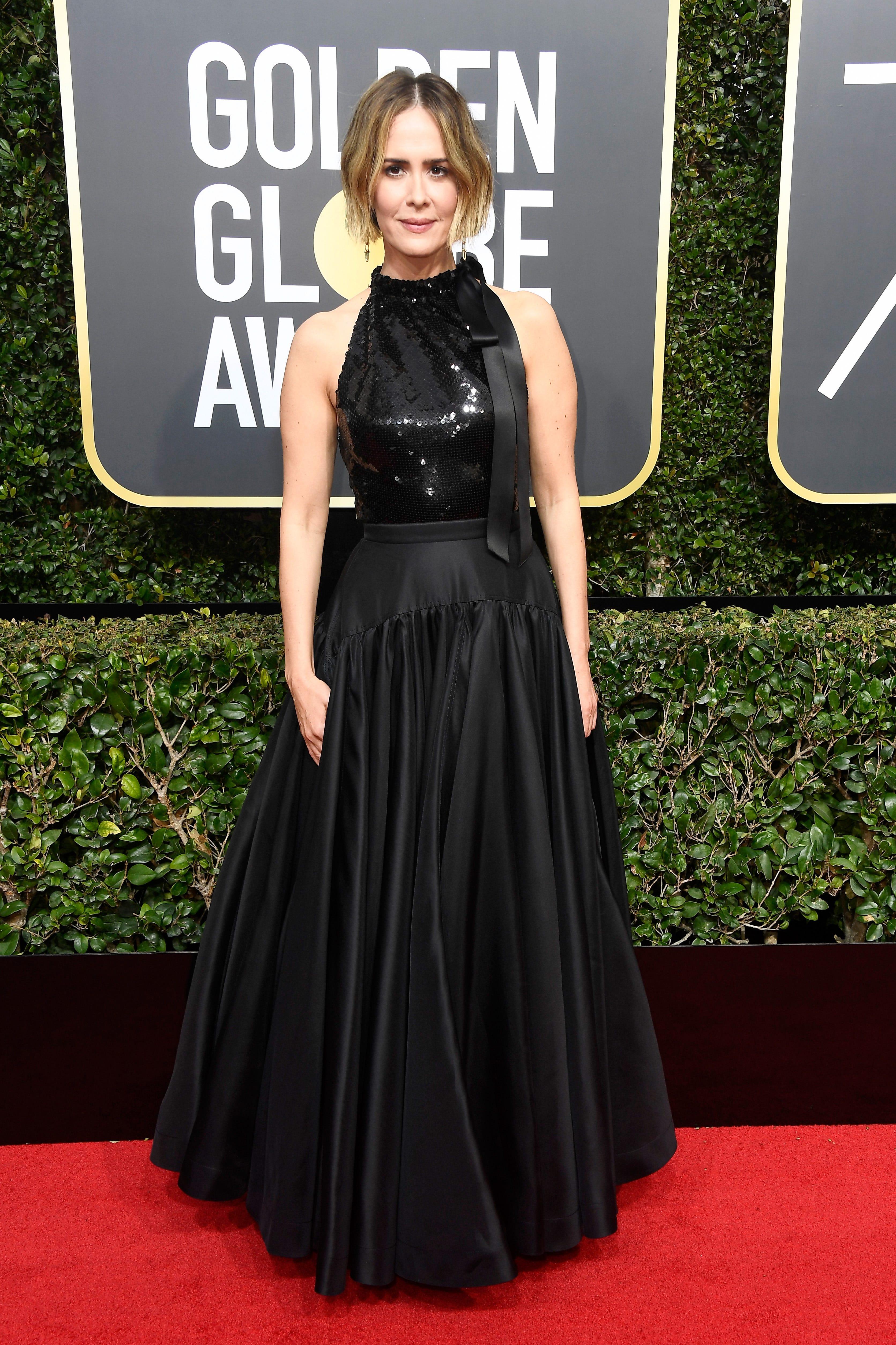 Best Dressed Golden Globes Red Carpet 2018 Black Jolie Clothing Dakota Long Dress