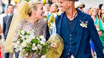 Piper perabo marries stephen kay silver wedding dress junglespirit Choice Image