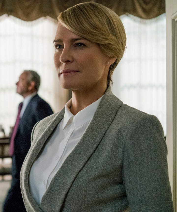 House Of Cards Robin Wright Equal Pay Kevin Spacey