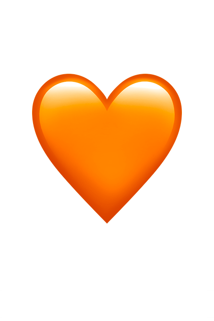 Image result for orange heart emoji