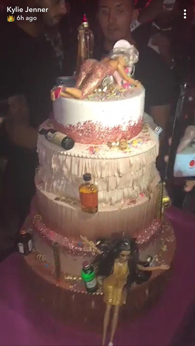Kylie Jenner Birthday Cake Had 5 Tiers Of Drunk Barbies