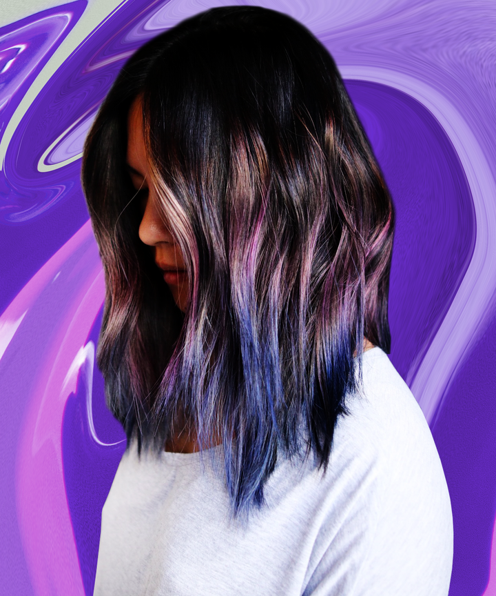 Geode Hair Cool Style Purple Pink Blue Colors