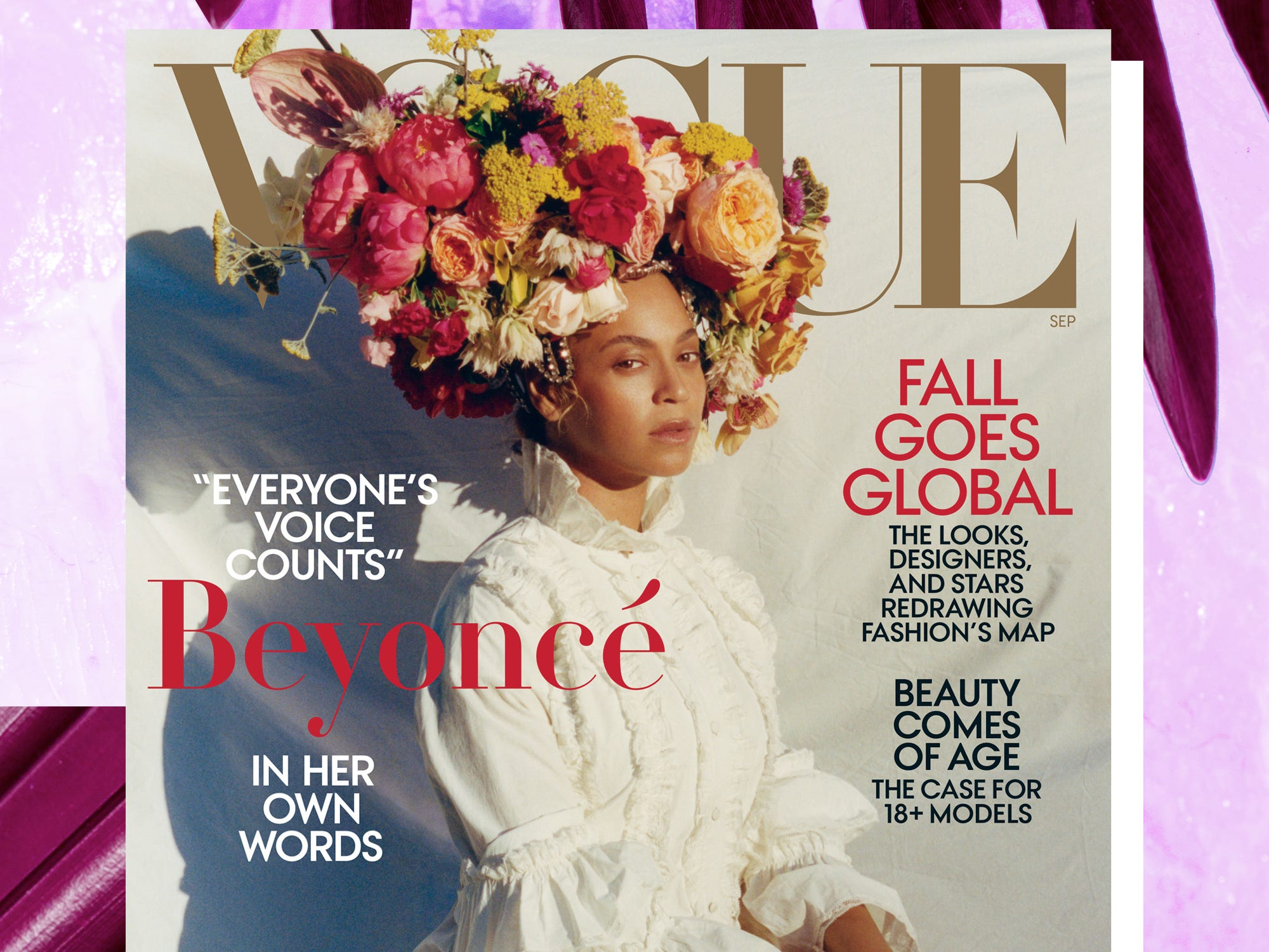 Beyonce Stylist On Her Real Hair Flower Crown On Vogue