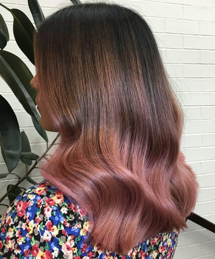 Rose Hair Color, Pink Hair Dye Shades Photos
