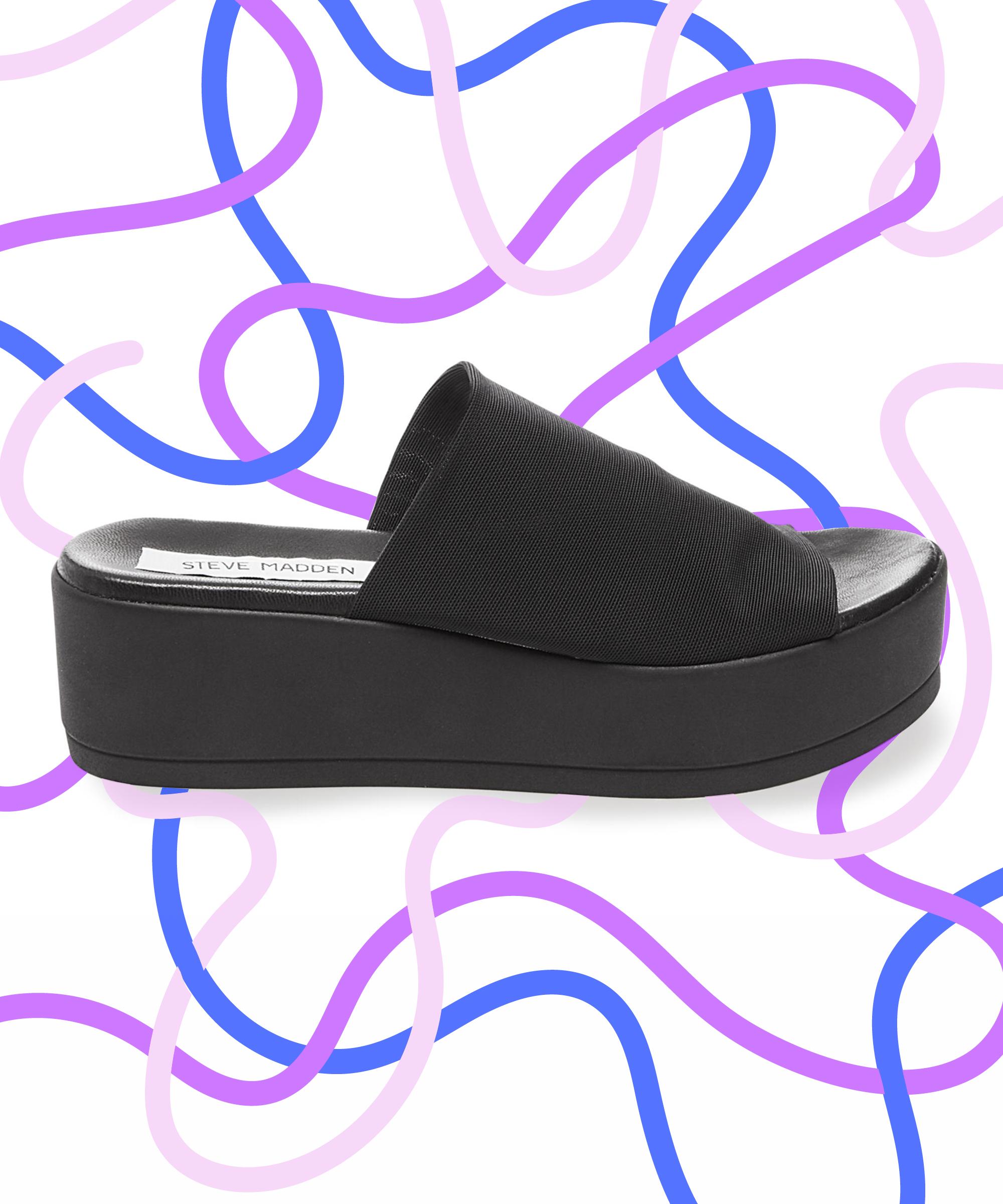 dafbbbb30e11 Steve Madden 90s Platform Sandal Relaunch Chunky Heel