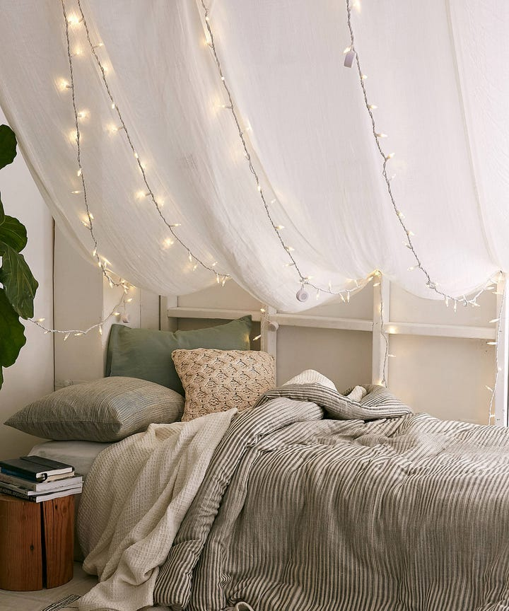10 cute string lights that work for dorms grown up homes - String Lights For Bedroom