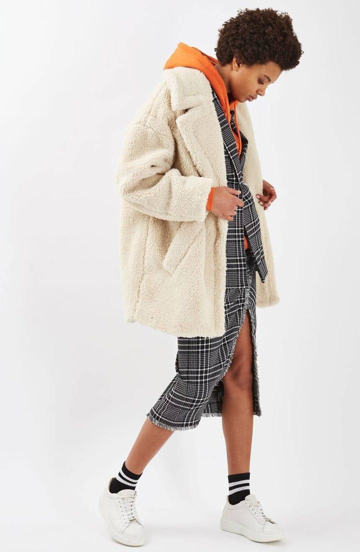 87e7f28ecbe Black Mink Signature Knee Length Faux Fur Coat 1. Black Hooded Short Faux  Fur Coat Missguided