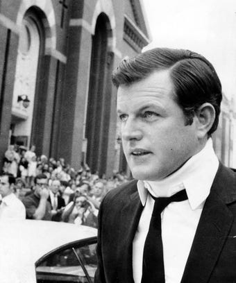 ted kennedy with neck brace