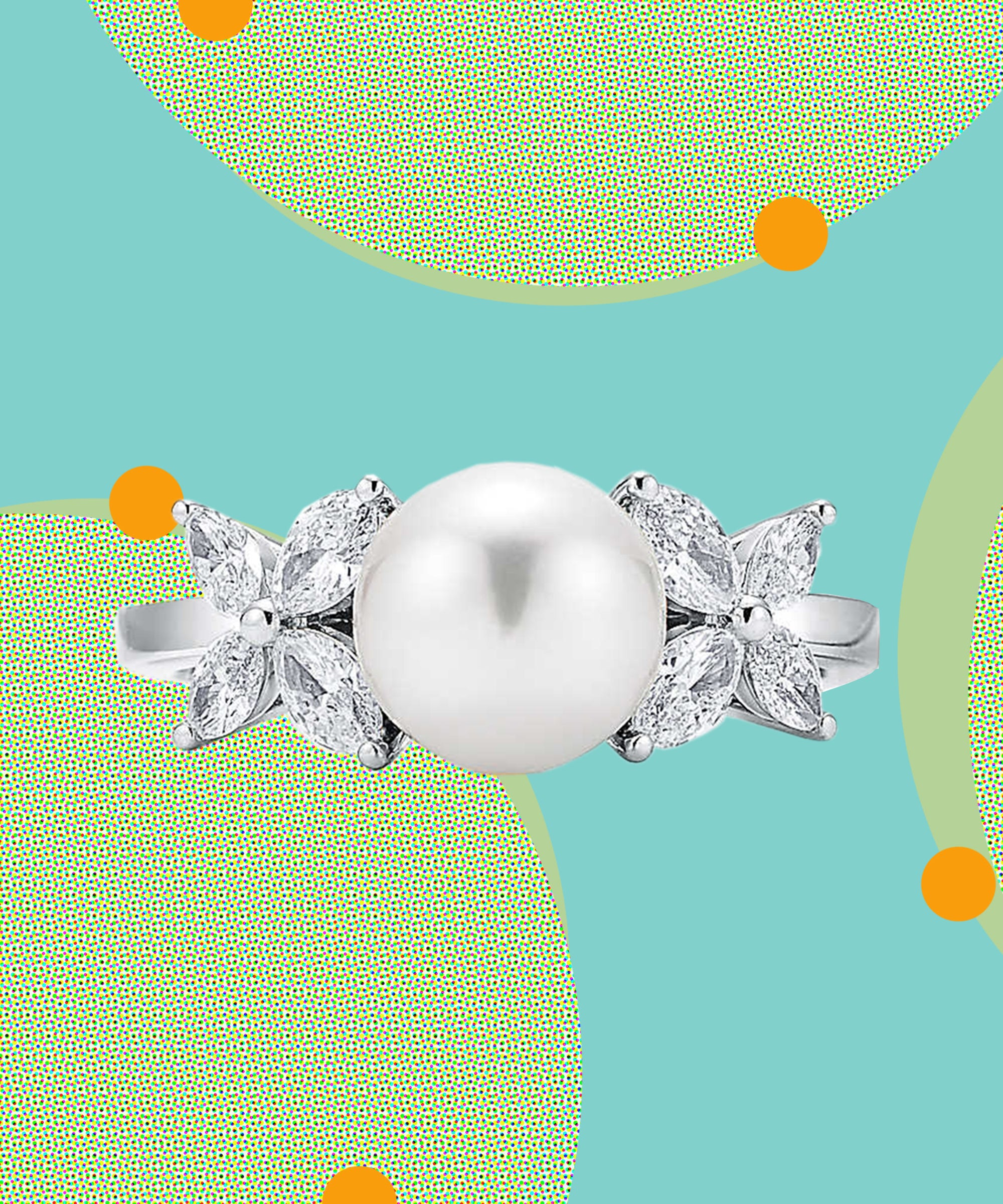 17 Pearl Engagement Rings If Diamonds Aren't Your Thing