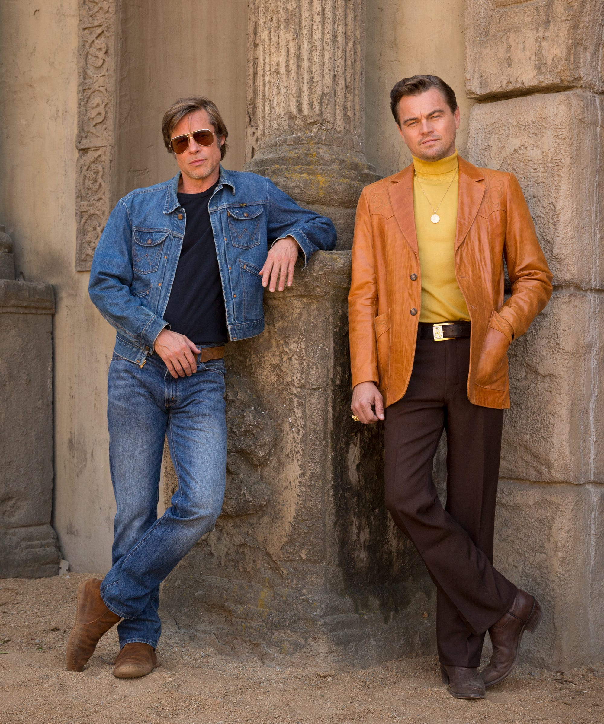 Brad Pitt & Leonardo DiCaprio Deserve Better Than This Cheesy Once Upon A Time In Hollywood Poster