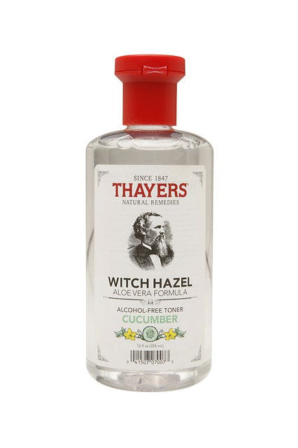 witch hazel and pimples
