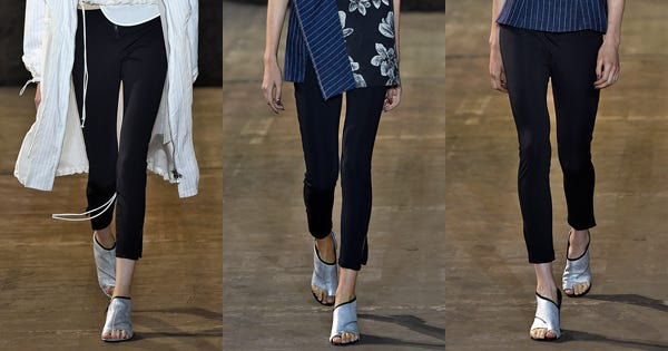 Leggings Are Back On The Fashion Runways — And This Is How They're Being Worn
