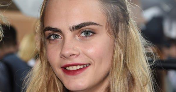 Cara Delevingne No Eyebrows Givenchy Spring 2015