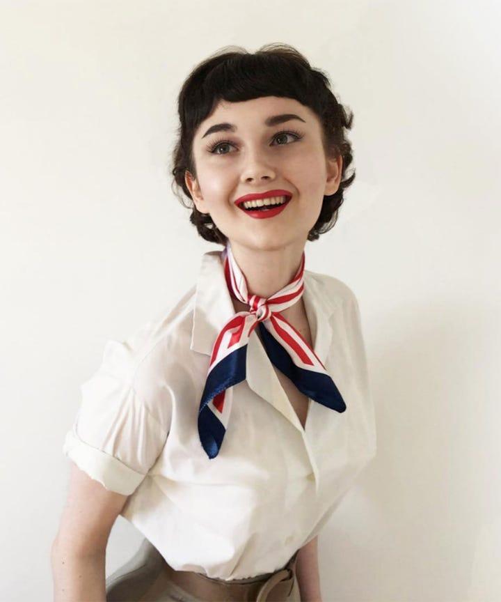 Annelies Van Overbeek Instagram Audrey Hepburn Star - Audrey-hepburn-makeup