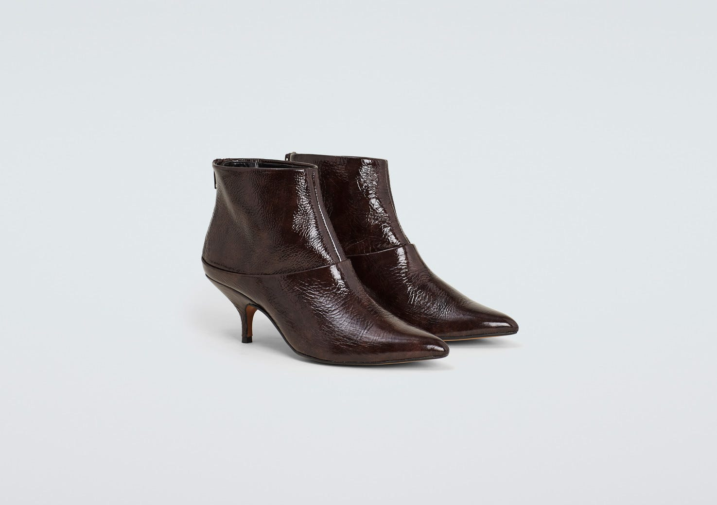 c8d0b10db6f Patty Mahogany Patent Leather Ankle Boot