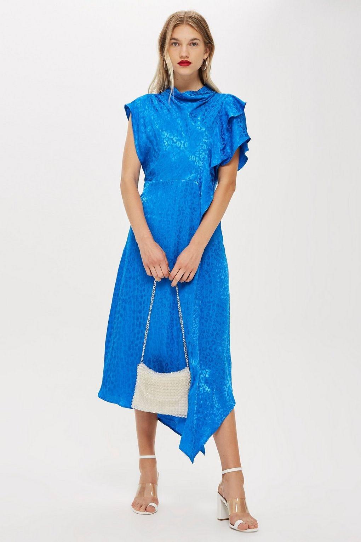 797e67dd4f81 Topshop. Petite Cowl Jacquard Midi Dress