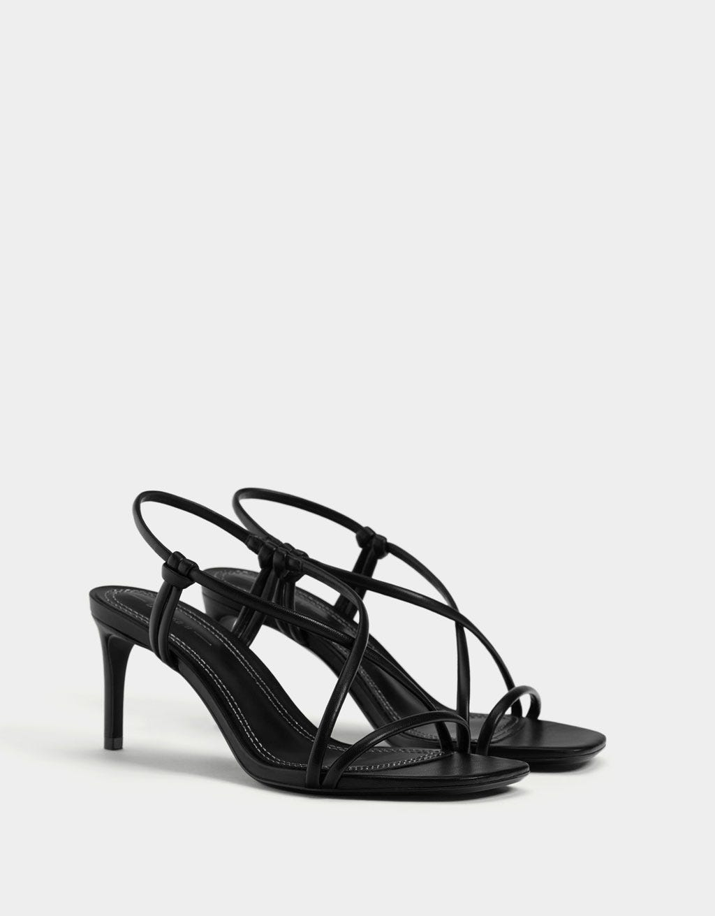 ef8ba05f0424 Black Strappy Sandals To Buy In 2019 All Heel Heights