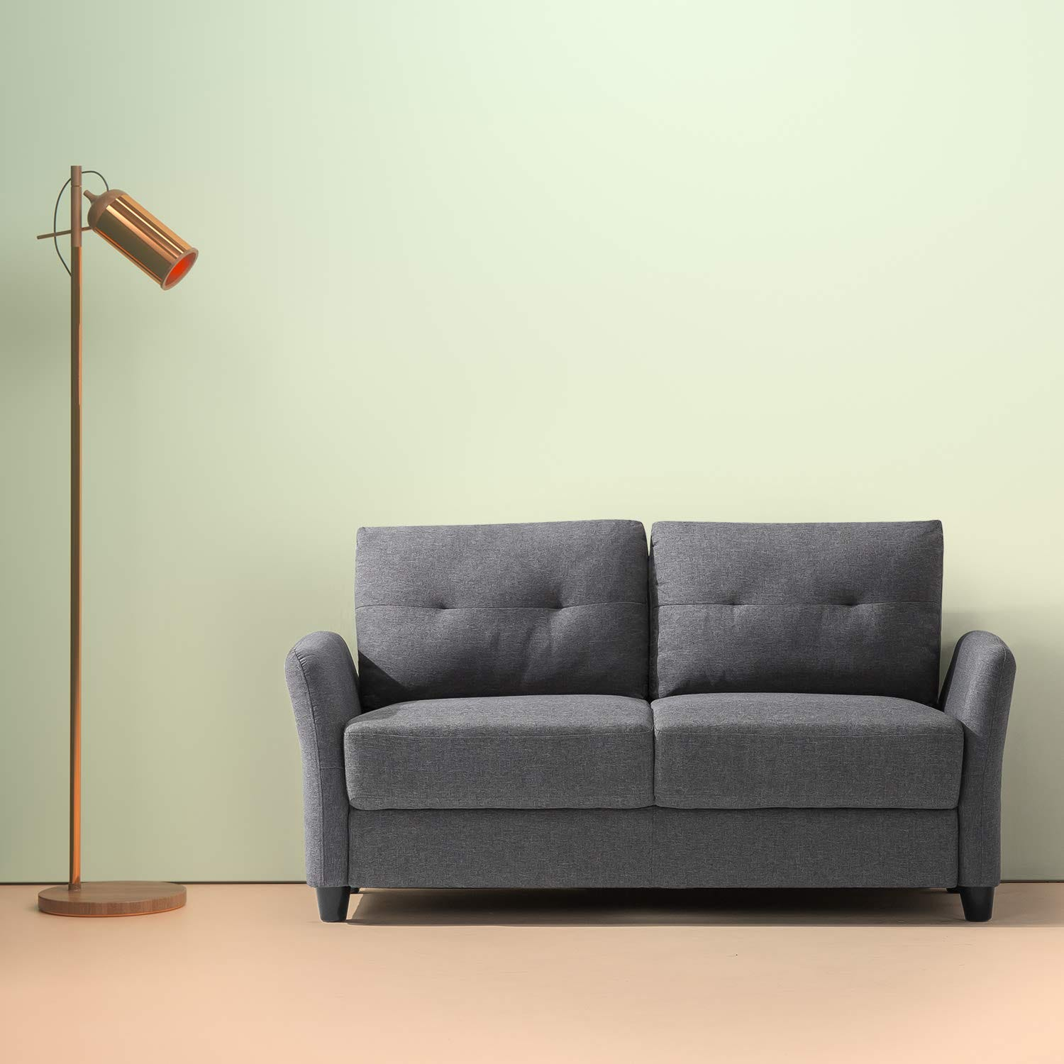 Couch for small space Blue Zinus Emmylouloublogcom Best Small Loveseats For Affordable Spacesaving Sofa