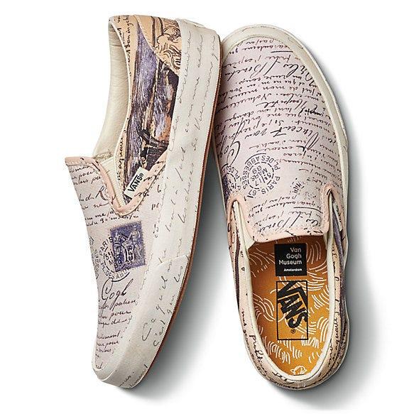 vans x van gogh sneaker clothing collab is pure art