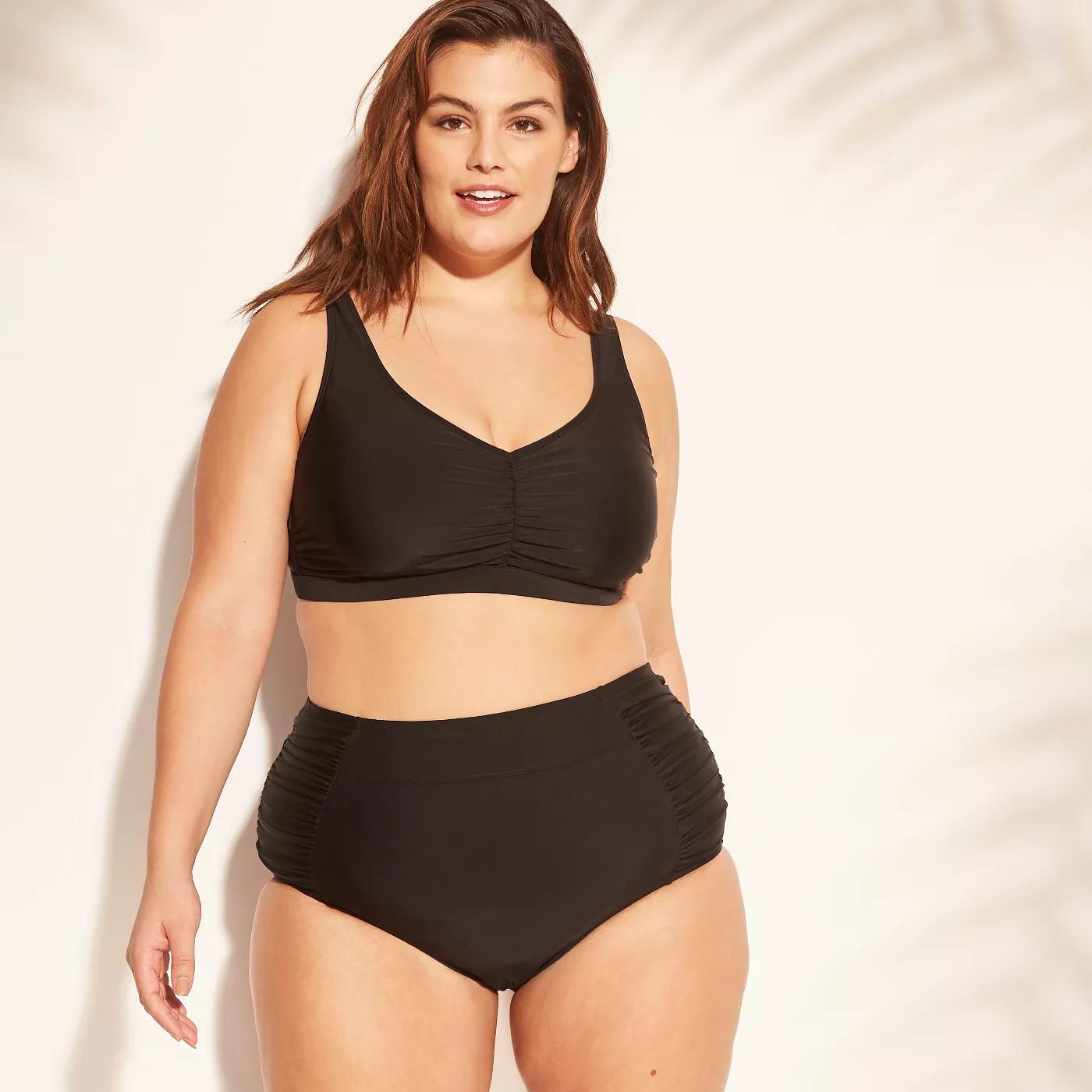 7c86a4981f1 Plus Size High Waist Bikini Bottom