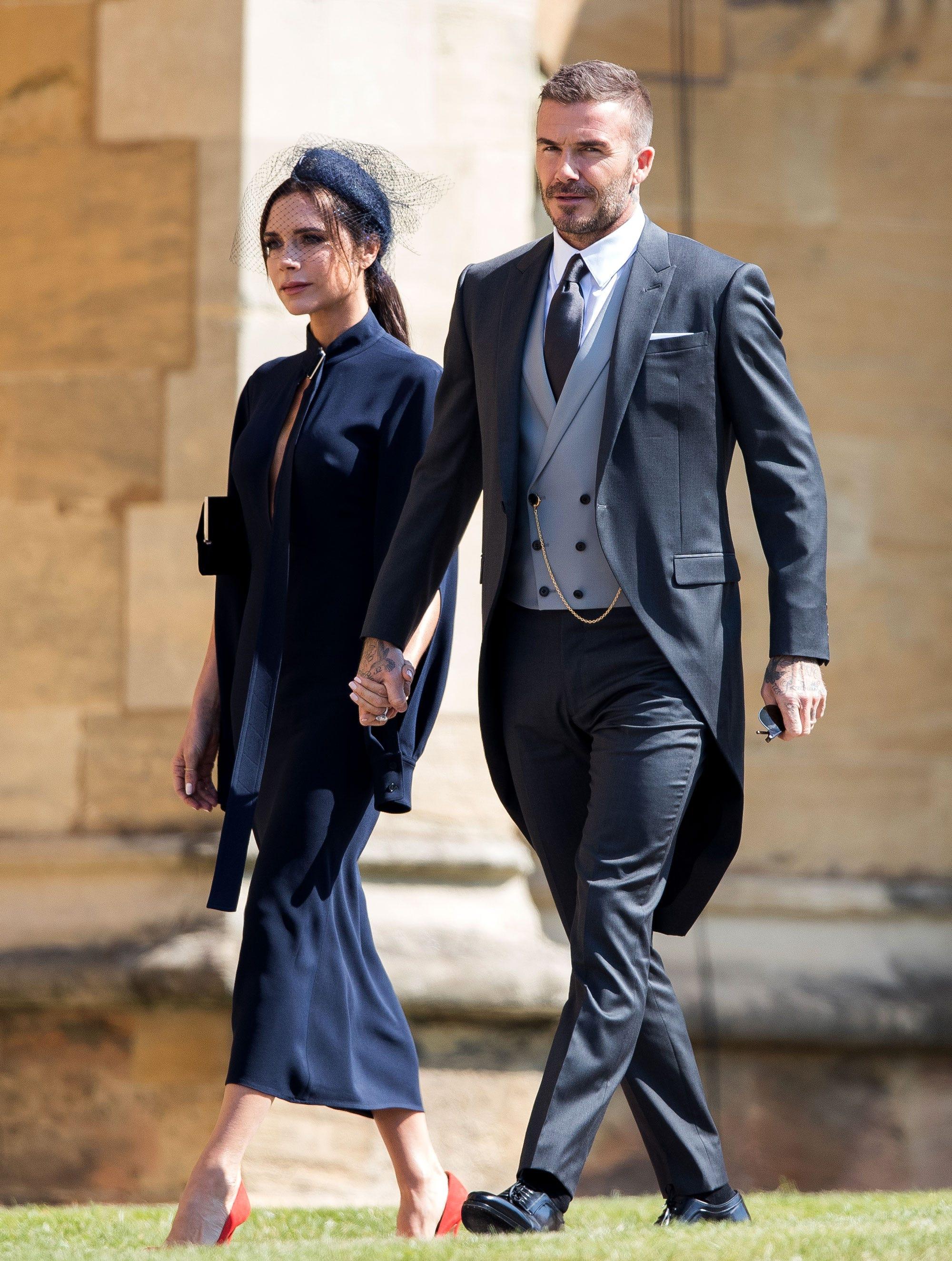 victoria and david beckham donate royal wedding outfits
