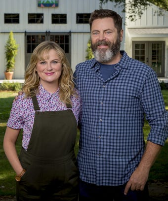 amy poehler nick offerman new show making it details. Black Bedroom Furniture Sets. Home Design Ideas