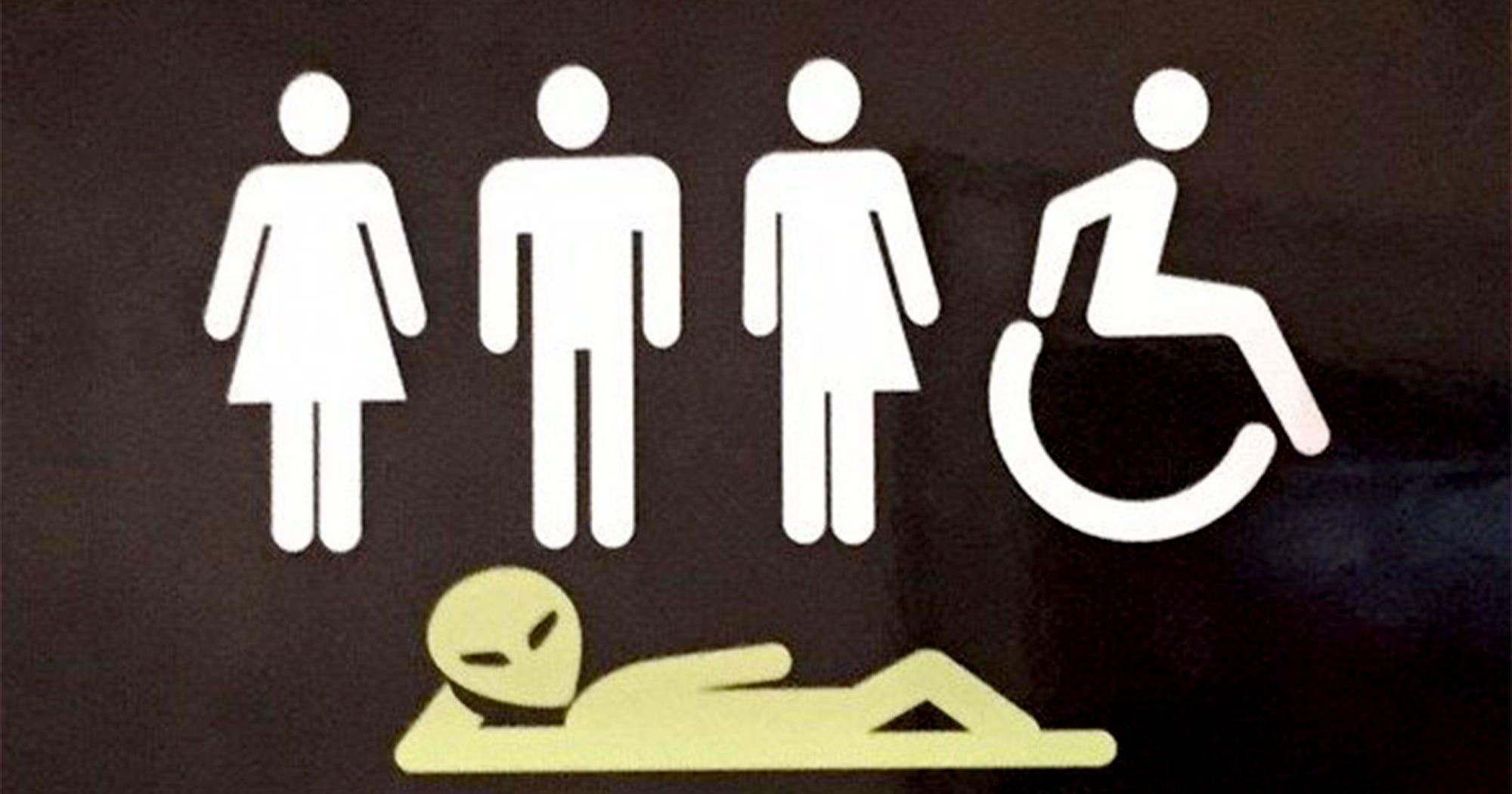 Cool Inclusive Bathroom Sign Public Restroom All Genders Download Free Architecture Designs Xaembritishbridgeorg