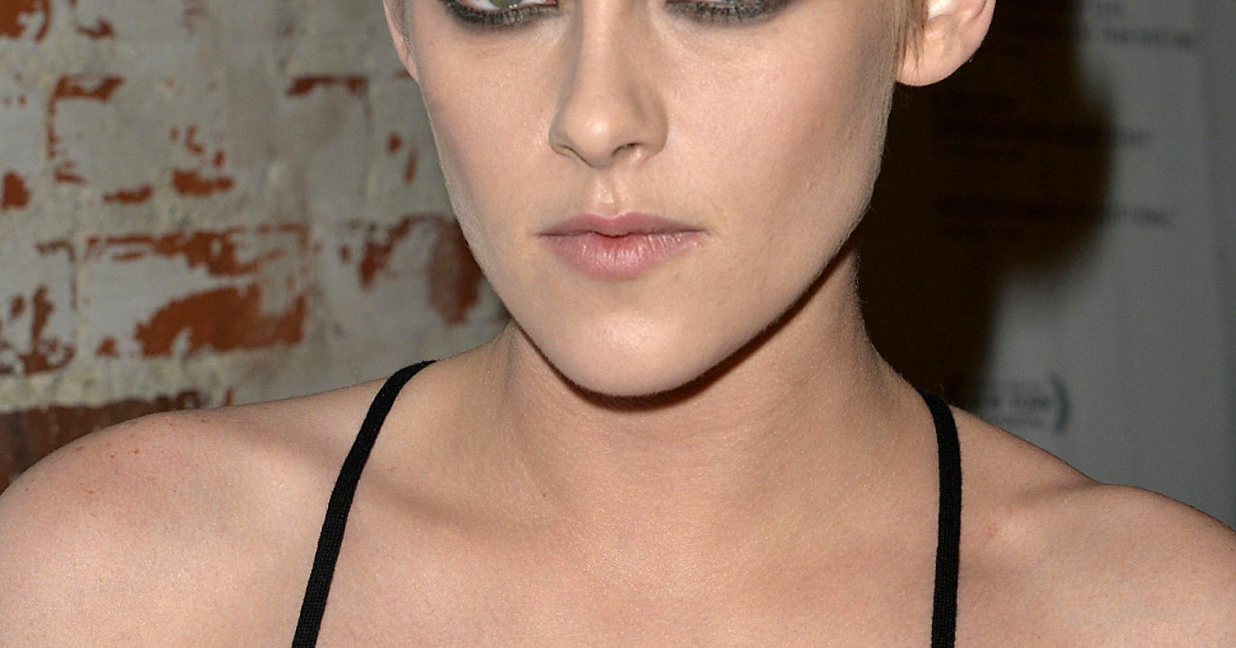 Kristen Stewart Debuts Platinum-Blonde Shaved Head